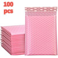 Packing Bags 50pcs Bubble Mailers Pink Poly Mailer Self Seal Padded Envelopes Gift Black white Packaging Envelope For Book