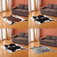 Sholisa Cowhide Rug Cow hide Carpets for living Room Bedroom Rug Polyester for Home Decorative Hand WashMorden Cow Skin 201225 739 R2
