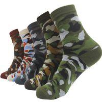 2020 Brand New Men Military Socks Graffiti Green Crew Cotton Sock For Male Jungle Style Sports Men's Camouflage Socks Gifts Hot