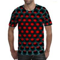 2021 erkek Casual Grafik T Shirt Yaz Moda 3D Delinme Baskı Tshirt Gevşek Ceket T-Shirt Avrupa Büyük Boy