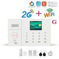 Wifi GSM Alarm System for Home Wireless Password Keyboard Security Burglar Kit 2G 4G Smart Life Tuya app Control work with Alexa