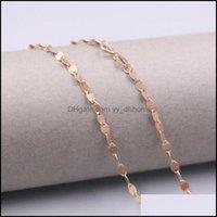Cadeias colares pingentes jóias AU750 Real 18k Rosa Cadeia de Ouro Gravatas para Mulheres Feminino 2.8mm Red Tiles Link Gargantilha Colar 18L