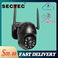 PTZ 4X Digital Zoom IP Camera Wireless Auto Tracking Outdoor Waterproof Speed Dome 1Inch WiFi Security CCTV Cameras