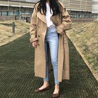 Women's Trench Coats Female round khakis coat, mostly long stylish plus size autumn G60Y