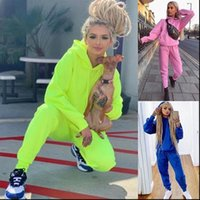Tracksuit Set Sportswear Long Sleeve Womens Tracksuits Hoodies Full Pants 2 Piece Solid Casual Sport Suit