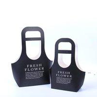 PVC Su Geçirmez Fower Çanta Hediye Paketi Kağıt Kare Taşınabilir Çiçekçi Handy Çiçek Çanta Düğün Favor Parti Gül Saklama Kutusu Hediyeler EWD6521