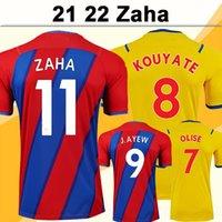 21 22 ZAHA Mens Futbol Formaları Benteke J.Alew Milivojevic Eze Mcarthur Schlupp Mateta Ev Kırmızı Mavi Uzakta Sarı Kısa Kollu Futbol Gömlek