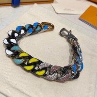 Designer High Quality Silver Love letter flower Bracelet Men Women Gold Bracelets Chain Fashion Personality Hip-hop