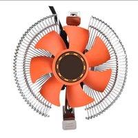 Fan de enfriamiento Lámpara LED COMPUTADORA CPU Enfriador Ultra-silencioso Fregadero de calor para Intel AMD Desktops Fans de Laptop Refriolos