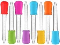 10 색 5ml 실리콘 액체 droppers 플라스틱 피펫 캔디 오일 부엌에 대 한 전구 팁이있는 스포이드 스포이드 템플러 만들기 곰팡이 만들기