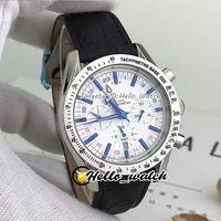 Relojes especiales de oferta 321.12.42.50.02.001 Cronógrafo de cuarzo para hombre reloj de reloj blanco marcadores azules de palillo de la caja de acero de la caja de acero. Strap Hello_Watch