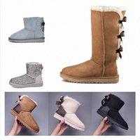 2021 hot wgg ug Designer Women Boots Australia Classic Fashion Snow Bowtie Ankle Boot Winter Chestnut Women's EUR36-41 m2tZ#