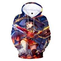 Sweats à capuche pour hommes Sweatshirts 2021 Anime Megumin Konosuba Hoodie Sweat Sweat-shirt Cosplay Boy / Girl's Vêtements Pullover