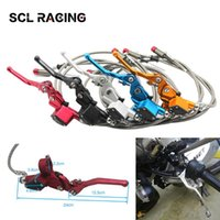 Motorcycle Brakes SCL Racing Moto Hydraulic Clutch 1200mm Lever Master Cylinder For 125-250cc Vertical Engine Off Road Dirt Bike