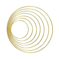 1pack/lot Gold Color Big Dream Catcher Circle Ring Craft 35-190mm Metal Rings For Dream Catchers Hoops Hanging DIY Connectors 1547 V2