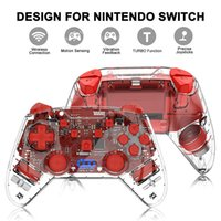 For Switch NS Pro Game Controller Lite Transparent Bluetooth Wireless Gamepads Remote Console Joystick Controllers & Joysticks