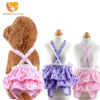 Dog Apparel Cat Physiological Pants Pet Underwear Diapers Cute Dot Print Jumpsuit Panties Strap Sanitary Adjustable Shorts Small