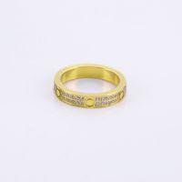 Logo роскошные кольца женщины винт коробка из нержавеющей стали пара двойной ряд zircon ювелирные изделия подарки для женщины аксессуары оптом