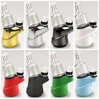 SOC Enail Kit Matt Colors Wax Pen Concentrate Shatter Dab Rig Dry Herb Vaporizer Glass Bong 2600mAh Vape Battery DHL free