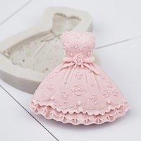 Cake Tools Princess Dress Silicone Mold Fondant Mould Decorating Chocolate Gumpaste Molds, Sugarcraft, Kitchen Gadgets