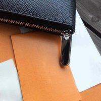 حقيبة باريس برازا الرجال محفظة تصميم ماركة محافظ المرأة طويلة انغلق حقيبة بو الجلود مخلب أكياس مع N60017