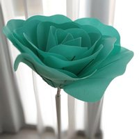 Decorative Flowers & Wreaths Giant Fake PE Foam Rose For Wedding Wall Background Decoration Mall Window Layout Artificial Roses Home Display