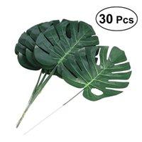 PCS Tamanho Médio Simulação Verde Flores Artificial Plantas Falso Monstera Folhas de Casa Decoração Decorativa Grinaldas