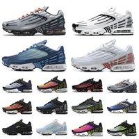 Nike air max tn plus 3 أحذية ركض رجالية حزمة طبوغرافية ثلاثية بيضاء سوداء هايبر og كلاسيك نيون رجال ونساء أحذية رياضية رياضية Tiger Laser Blue Parachute Aqua Iridescent