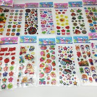 50 sheets lot Mini Cartoon Puffy Stickers Children Dress up Animal Fruit Classic Toys for Kids Girls School Teacher Rewards 1097 V2