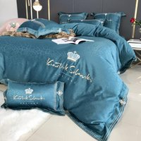 Bedding Sets 100% Cotton Luxury Four Seasons Double-sided Duvet Cover Queen Bed Set Size CN(Origin)