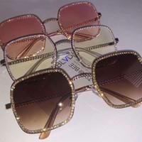 Oreldia плоский свет алмазные квадратные солнцезащитные очки женщин роскошь кристалл четкий объектив солнцезащитные очки винтажная большая рамка женские оптические стекла