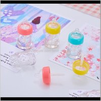 Packing Bottles Nipple Bottle Lip Gloss Plastic Transparent Multi Color Lipstick Lipglaze Labial Tube Empty Container Cosmetic Bag 1 6 Yhxrb