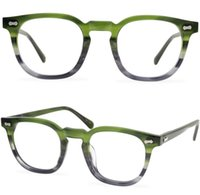 Brand Eyeglasses Frame Square Myopia Optical Eyewear Retro Reading Glasses Fashion American Style Men Women Spectacle Frames with Clear Lens