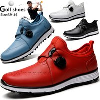 Golf shoes R. Xjian Professional Shoes Outdoor Male Waterproof Sports Female Button Breathing Antislip 0908