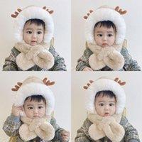 Sciarpe Baby Autunno Inverno Cappello per bambini Cappello per bambini integrata Plus Velvet caldo e confortevole Girl Assurazione Girl Cute Super Boy Cap