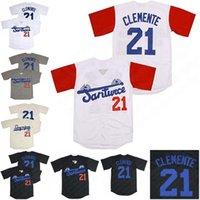 2021 Film Jersey 21 Roberto Clemente Santurce Crabbers Porto Riko Beyzbol Formaları Özel Herhangi Bir Adı Özellik 5 Renk Mesajı Dikişli