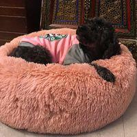 Kennels & Pens Comfortable Plush Kennel Dogs Pet Litter Deep Sleep PV Cat Sleeping Bed Mat Blanket Nest Solid 7 Colors 20Jan3