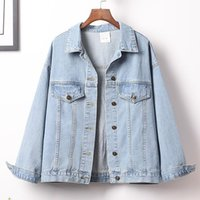 Women's Jackets Ladies Jeans Coat Loose Vintage Outwear 4XL 5XL Plus Size Womens Denim With Sequins Fashion Summer Streetwear
