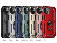 Hybrid Armor Phone Back Cover Cases For iPhone 13 12 mini Car Metal Finger Bracket kickstand anti-fall Shockproof Case