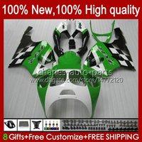 Kit de carrossage pour Kawasaki Ninja ZX-7R ZX750 ZX 7R 96 97 98 99 00 01 02 03 Bodywork 28HC.59 ZX-750 ZX 7 R ZX 750 ZX7R 1996 1997 1998 1999 2000 2001 2002 2003 Farécages Green Glossy NOUVEAU
