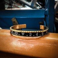 Bangle 2021 Mode Cadran Steel Speedometer Bracelets Bracelets Boube à manchette ouverte en acier inoxydable pour hommes garçon
