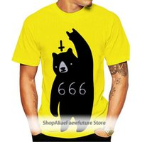 Men's T-Shirts 666 Bear Satan T Shirt For Men Women Fashion Short Sleeve O-Neck Cotton Casual Homme Hip Hop Swag T-Shirt Tshirt Summer Tops