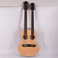 Duygu Çift Boyun 12 + 6 Dizeleri Akustik Elektro Gitar EQ ile