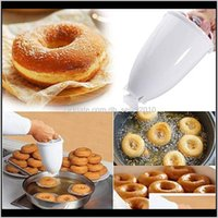 Bakeware Kitchen, Dining Bar Home & Garden Drop Delivery 2021 Practical Plastic Donut Hine Mould Diy Pastry Baking Tools Cake Donuts Mold Kit