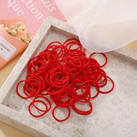 Hair Accessories 1 Pack Solid Candy Color Small Elastic Rope For Girls Kids Ponytail Holder Rubber Scrunchie Bands Headband