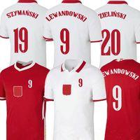 2021 Erkekler Çocuk Kiti Futbol Forması Eve 21 22 Kırmızı Beyaz Piszczek Milik Polonya Zielinski Gençlik Çocuk LEWandowski Formalar Grosicki Futbol Gömlek Üniformaları
