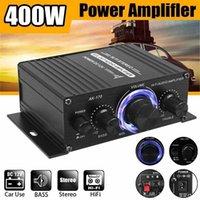 AK170 Hifi 12V Car Amplifier Home Stereo Subwoofer Sound Speaker LED Display digital audio processor Auto Music Player 211011