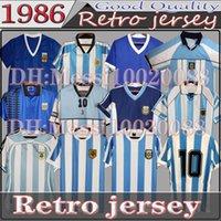 CLASSIC 1978 1986 Argentina Retro Soccer Jersey Commeriatora Maradona Home versione 86 78 1994 1998 2001 Camicia da calcio di qualità Cantigia 2006 Batistuta