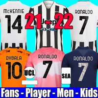 fan player version soccer jersey 2021 2022 RONALDO DYBALA MORATA CHIESA McKENNIE juventus kit da calcio maglia 21 22 JUVE Men + Kids quarto 4 ° set uniforme