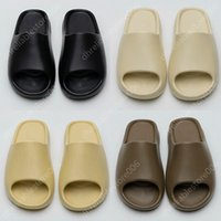 With Box sandálias chinelos Slippers sandals Sneakers Shoes Graffiti Bone White Resin Desert Sand Rubber Summer Earth Brown Flat Men Women Beach fashion Outdoor Trainers EUR 36-46
